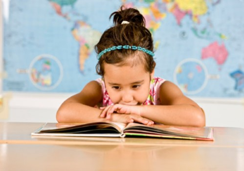 Girl Reading is Fun Star of the Story