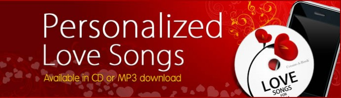 Personalized Love Songs Books About Me Valentine